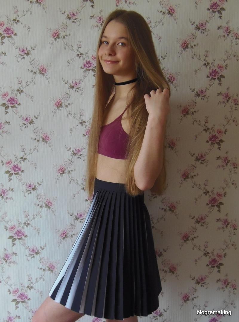 Шов в раскол пояс юбки