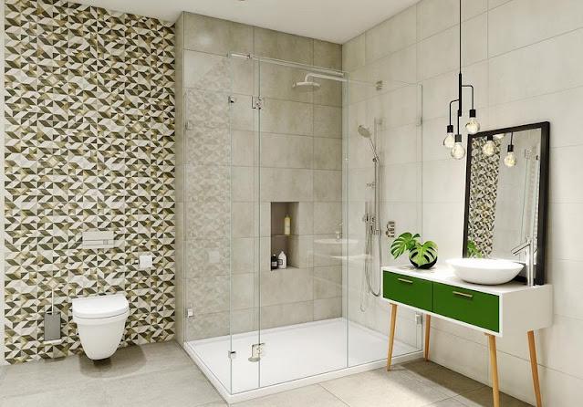 Modernes minimalistisches Badezimmerdesign