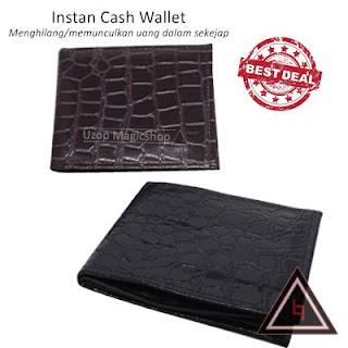 Alat sulap dompet instan cash wallet