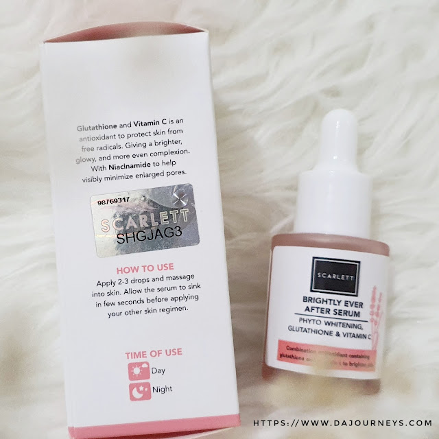 Review Scarlett Whitening Brightly Ever After Serum