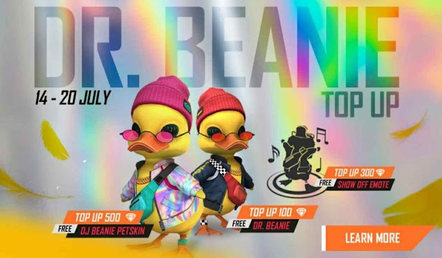 Dr Beanie Top-up Event Redeem Code Free Fire