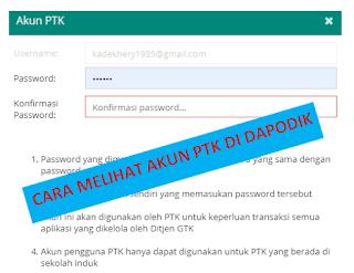 File Pendidikan Cara Melihat Akun PTK Di Aplikasi Dapodik