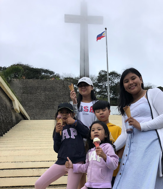 Kids at Mt. Samat