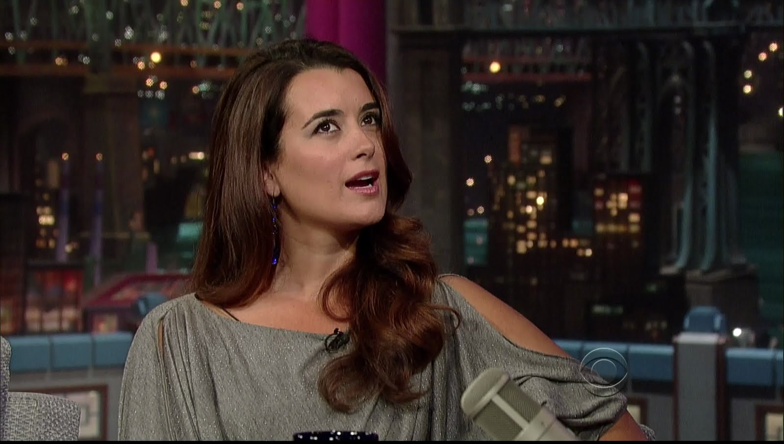 Cote De Pablo Hot 9 Cote de Pablo on Letterman Sexy Leg Cross x