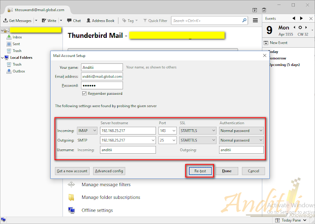 Konfigurasi Zimbra Collaboration Server dengan ThunderBird-anditii.web.id