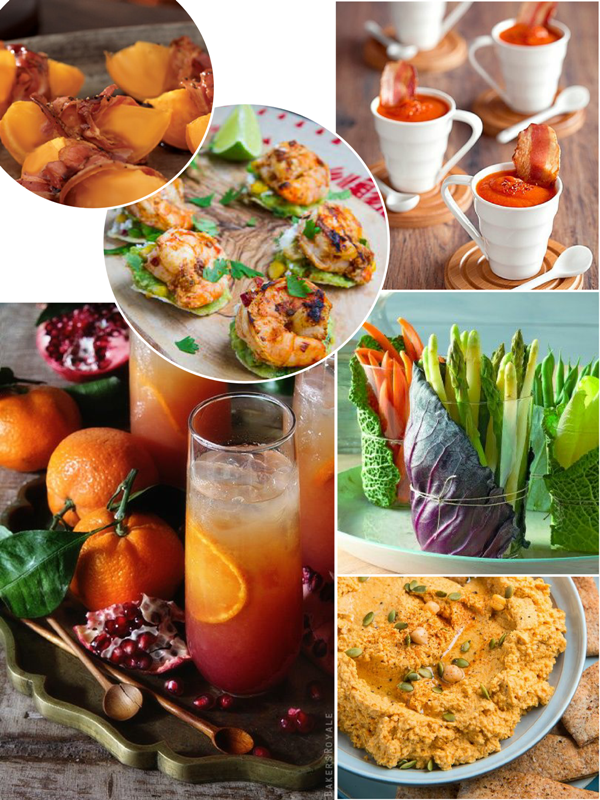 Healthy Thanksgiving Appetizers & Cocktails - via BirdsParty.com