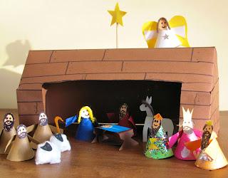 Nativity scene - Christmas craft