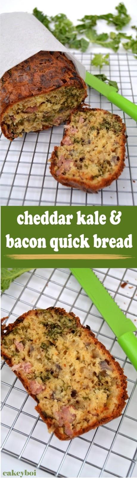Cakeyboi: Cheddar Kale and Bacon Quick Bread