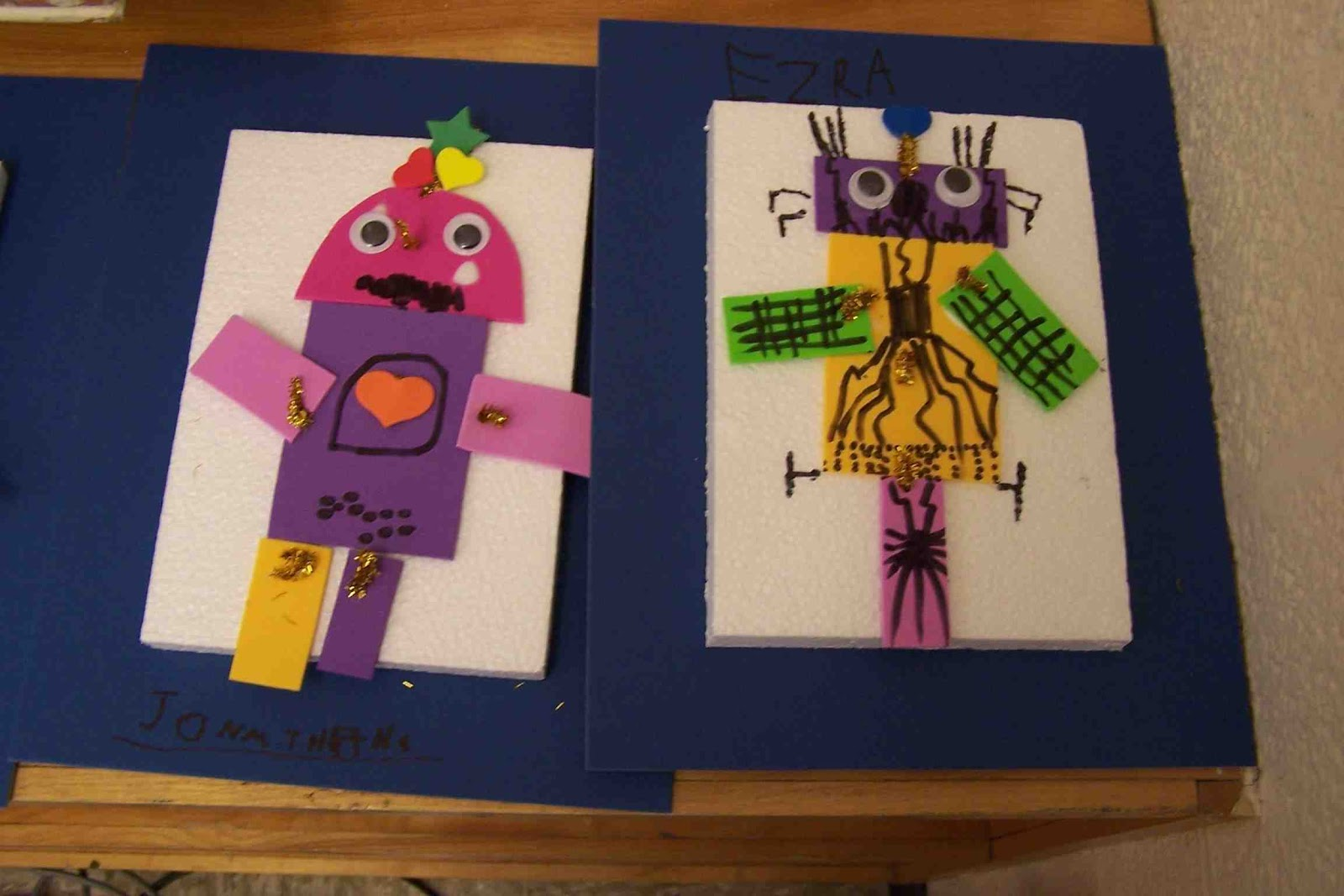 Create Art With Mrs P Kindergarten 2d Shape Robots