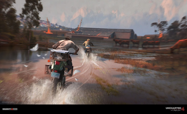Uncharted 4 Motorcycle Chase - Nick Gindraux