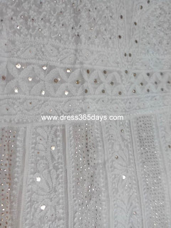 Pure Georgette Mukaish Kamdani Anarkali