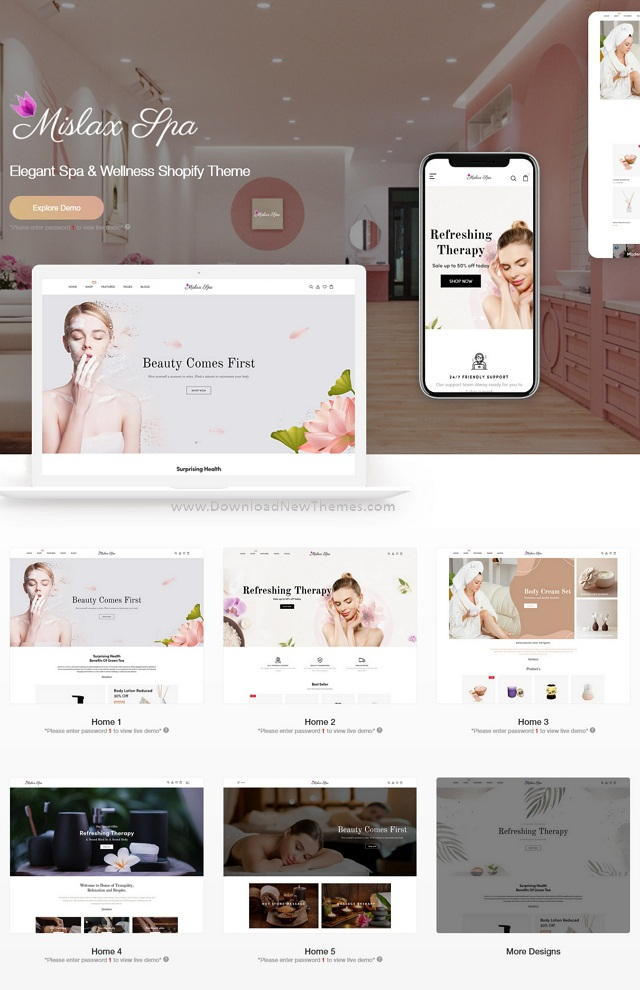 Elegant Spa And Wellness Shopify Theme
