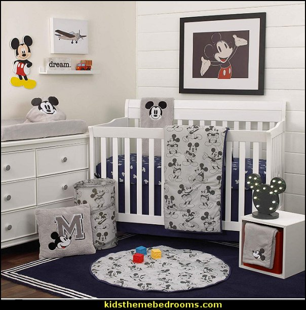 Disney Mickey Mouse 6 Piece Nursery Crib Bedding Set