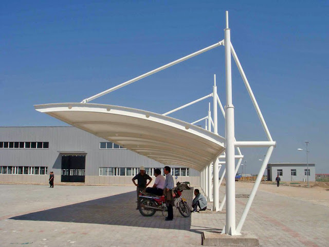 desain tenda membrane parkiran
