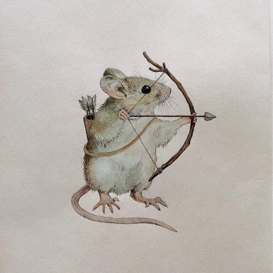 05-The-field-mouse-archer-Lily-Seika-Jones-www-designstack-co