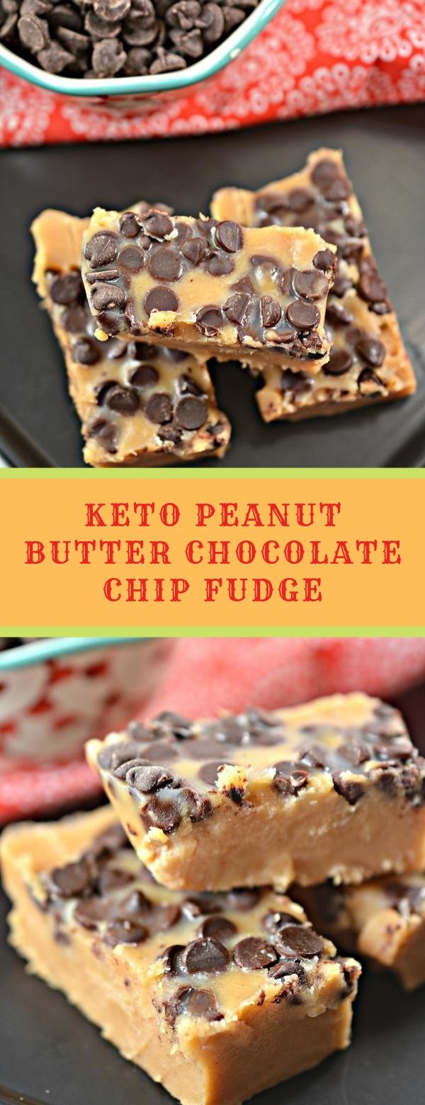 Keto Peanut Butter Chocolate Chip Fudge
