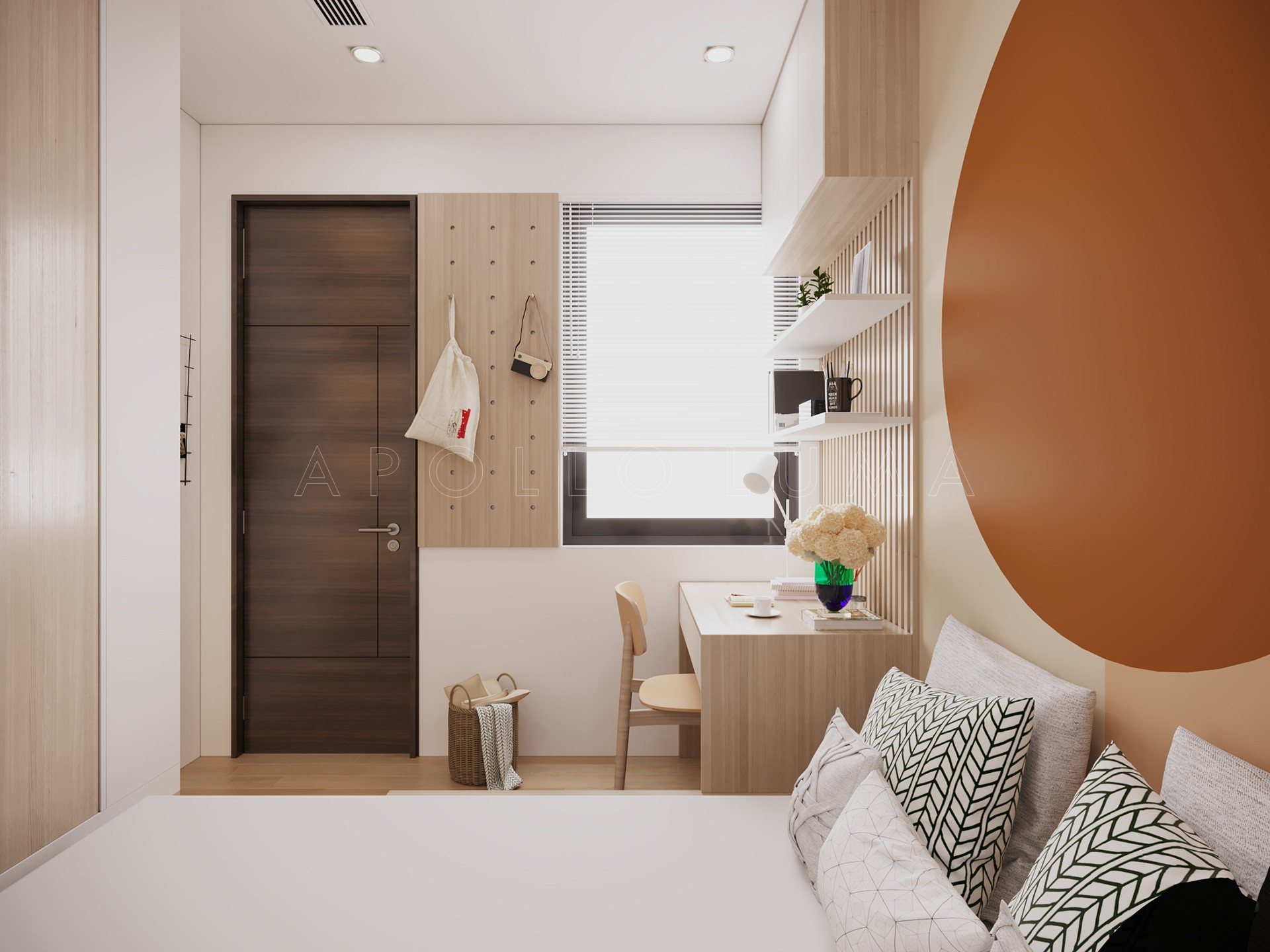 Thiết kế nội thất căn 2PN+1 (55m2) S2.09-11 Vinhomes Ocean Park