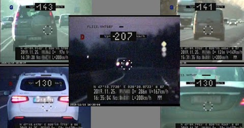 110 helyett 207-tel száguldott egy autós a 4-es főúton