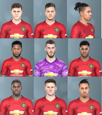 PES 2020 Manchester United Facepack for PES 2019 by LR7