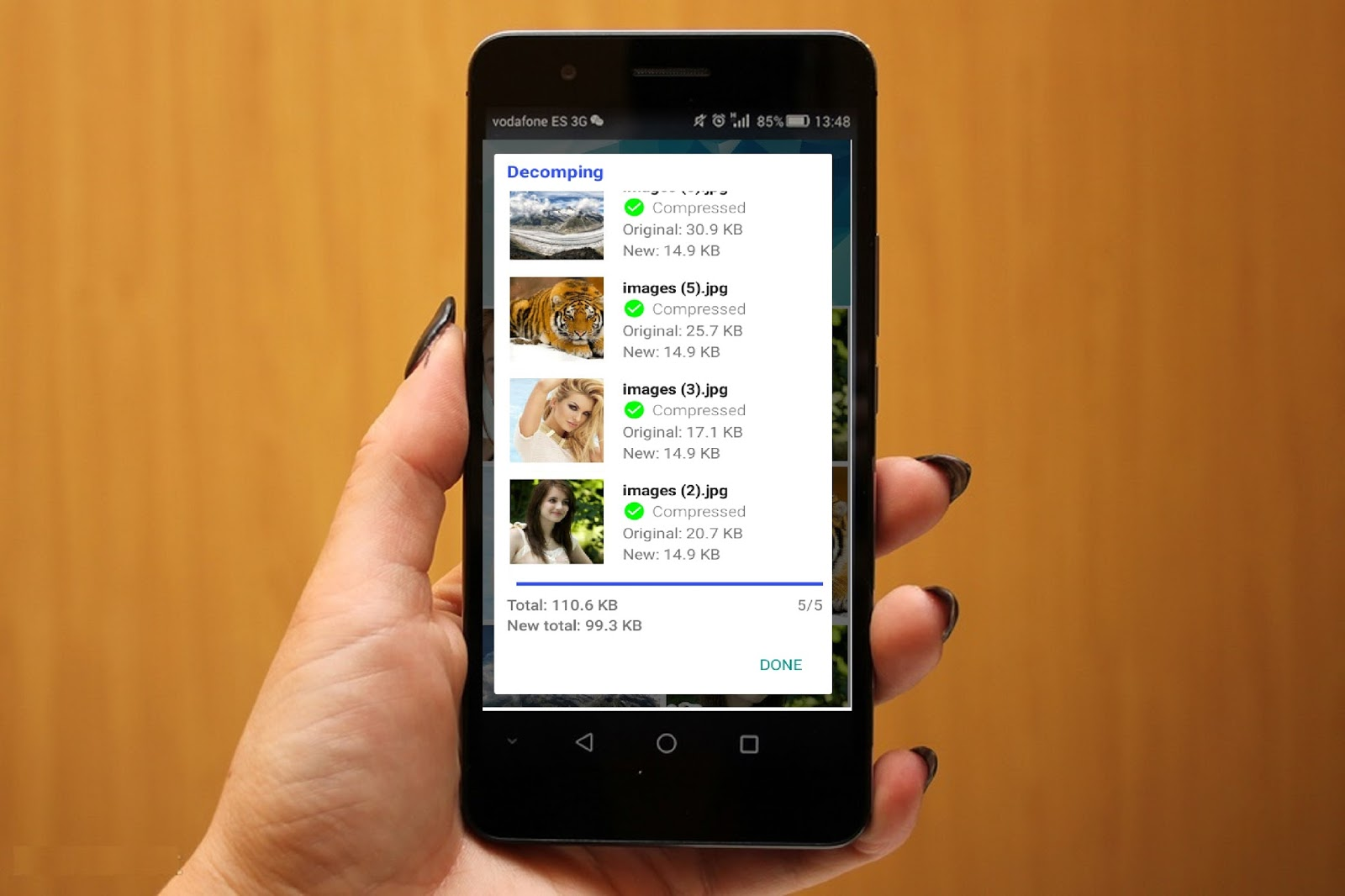 how to change size of apps android