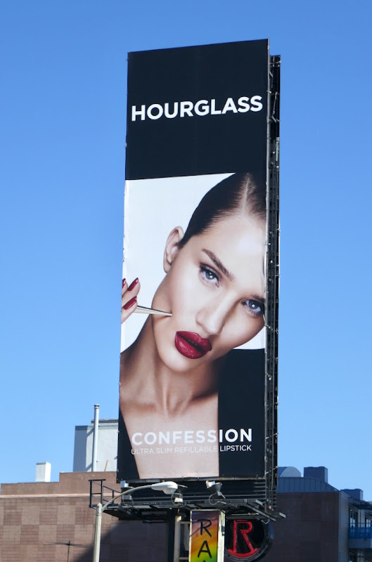 Hourglass Confession lipstick billboard