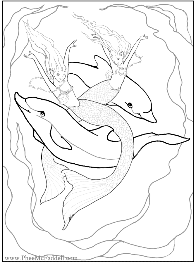 Enchanted designs fairy mermaid blog free fairy fantasy for Mermaid coloring pages online