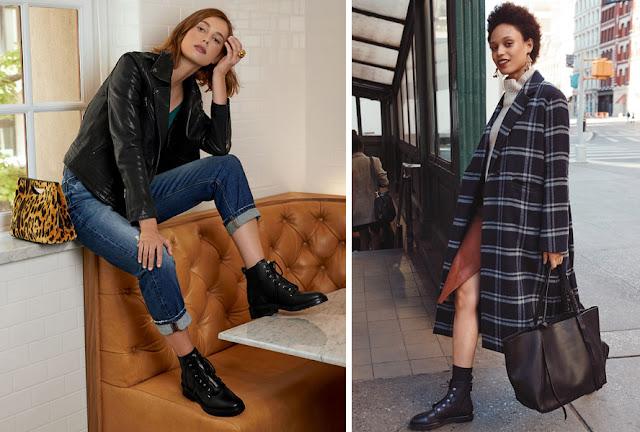 Грубые ботинки с джинсами и с элегантным пальто