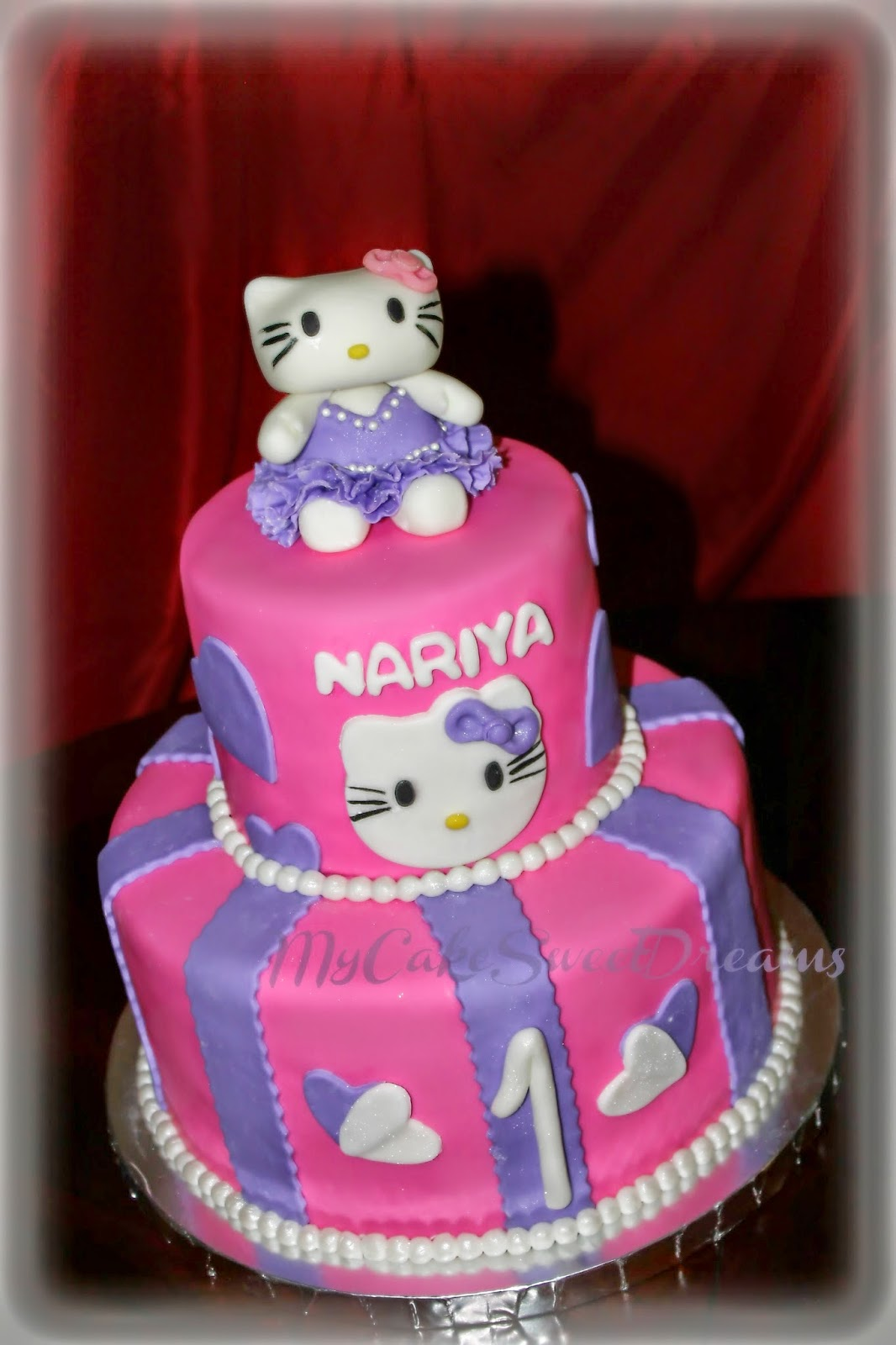 My Cake Sweet Dreams Hello Kitty First Birthday Cakes