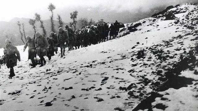 Ταφή οστών 193 Ελλήνων πεσόντων κατά το έπος του '40