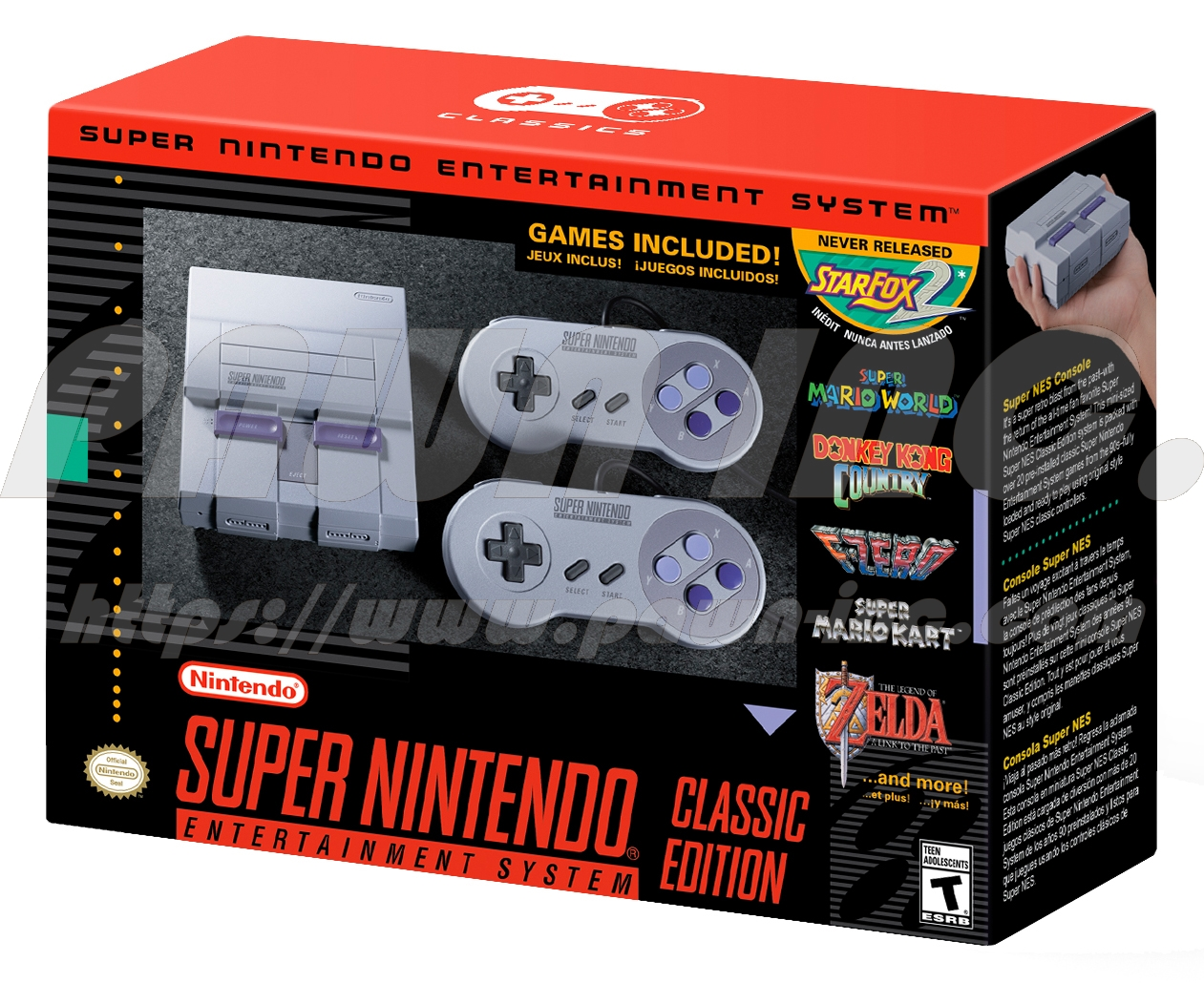 Super Nintendo Classic Edition with Free Limited SNES T-Shirt