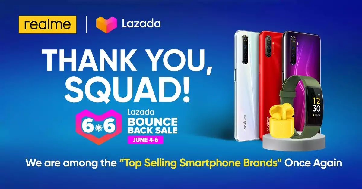 Realme 6 series sold out at Lazada 6.6 sale