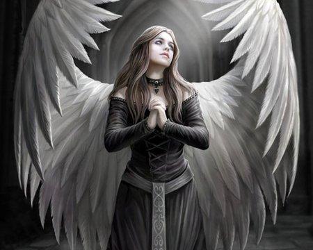 Anime fallen angel girl |See To World