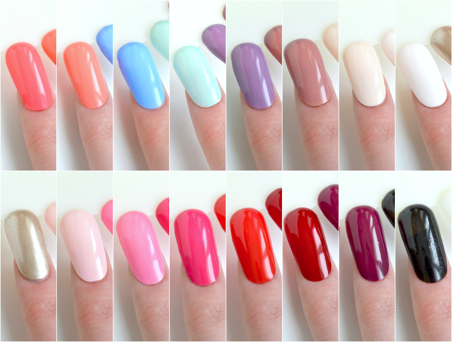 wonder gel swatches