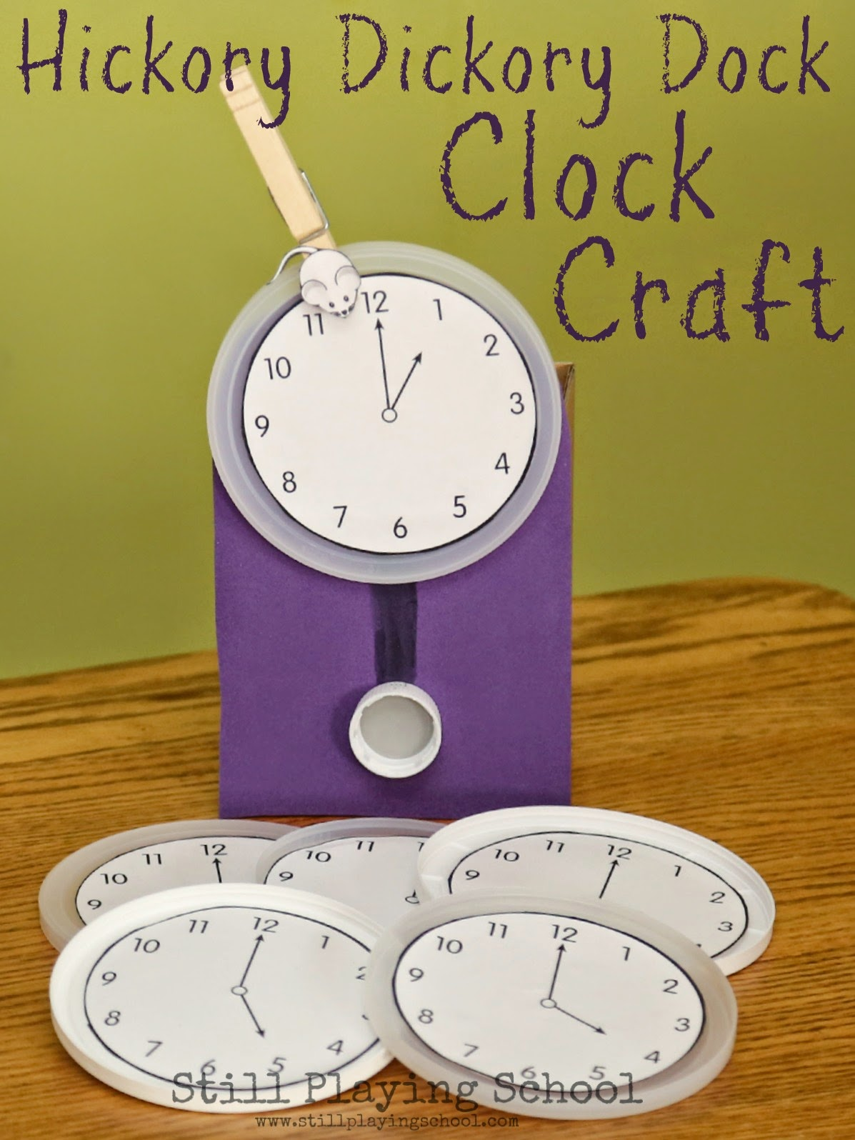Hickory Dickory Dock Clock Craft Amp Time Telling Activity