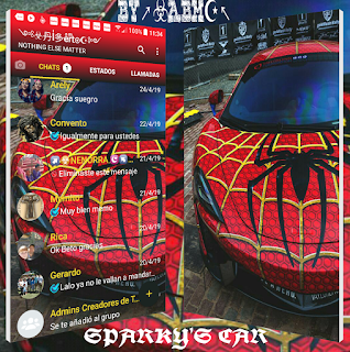 Spiderman Car Theme For YOWhatsApp & Fouad WhatsApp By ALBERTO