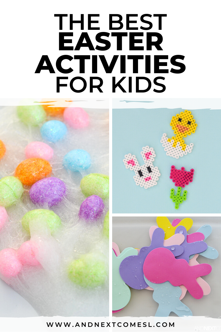 Easter activities for kids - ideas for toddlers, preschool, and kindergarten, including Easter sensory bin ideas and Easter crafts