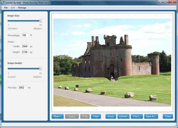 تحميل برنامج برنامج Sizester لتصغير حجم وأبعاد الصور
