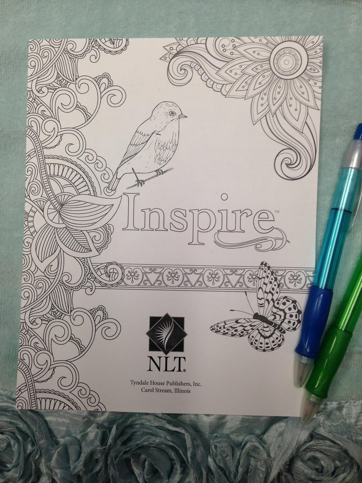 It is a picture of Influential Inspire Coloring Bible