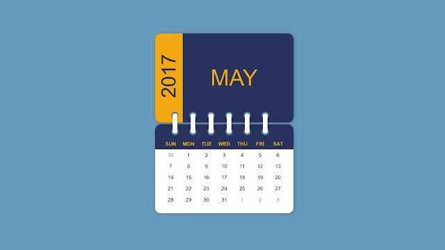 Attractive Calendar UI Design