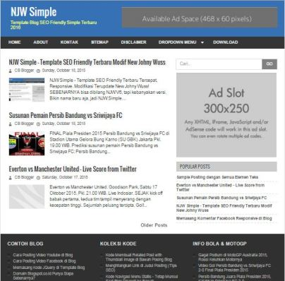 5+1 Seri New Johny Wuss, Template Paling Responsive Dan Fast Loading (GRATIS) by Anas Blogging Tips