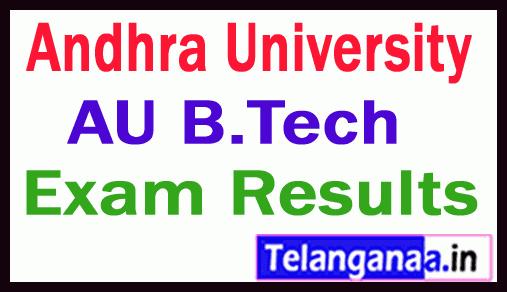 Andhra University B Tech  Exam Results