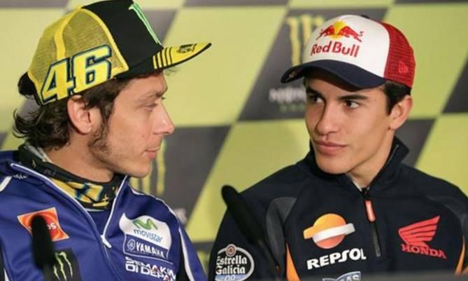 """Rossi, a Márquez: """"Yo tiré a 4 en 20 años, tú a 5 en una carrera"""""""