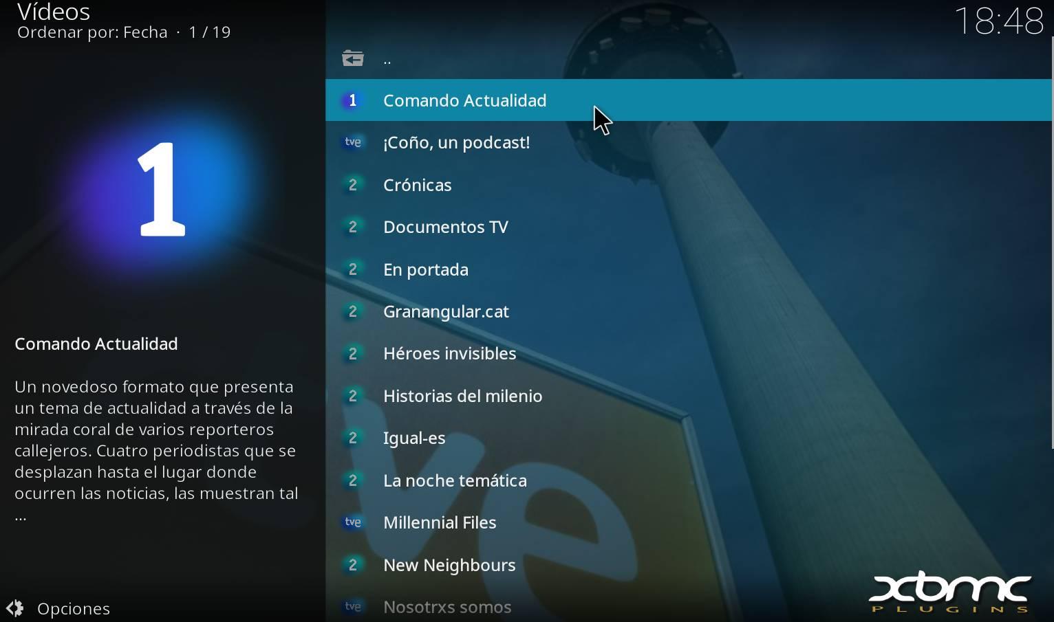 Ver contenido RTVE directo y a la carta