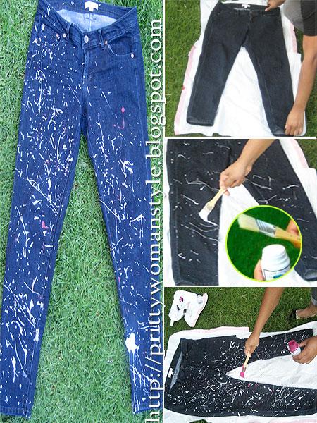 Как да си направим дизайнерски дънки на пръски боя