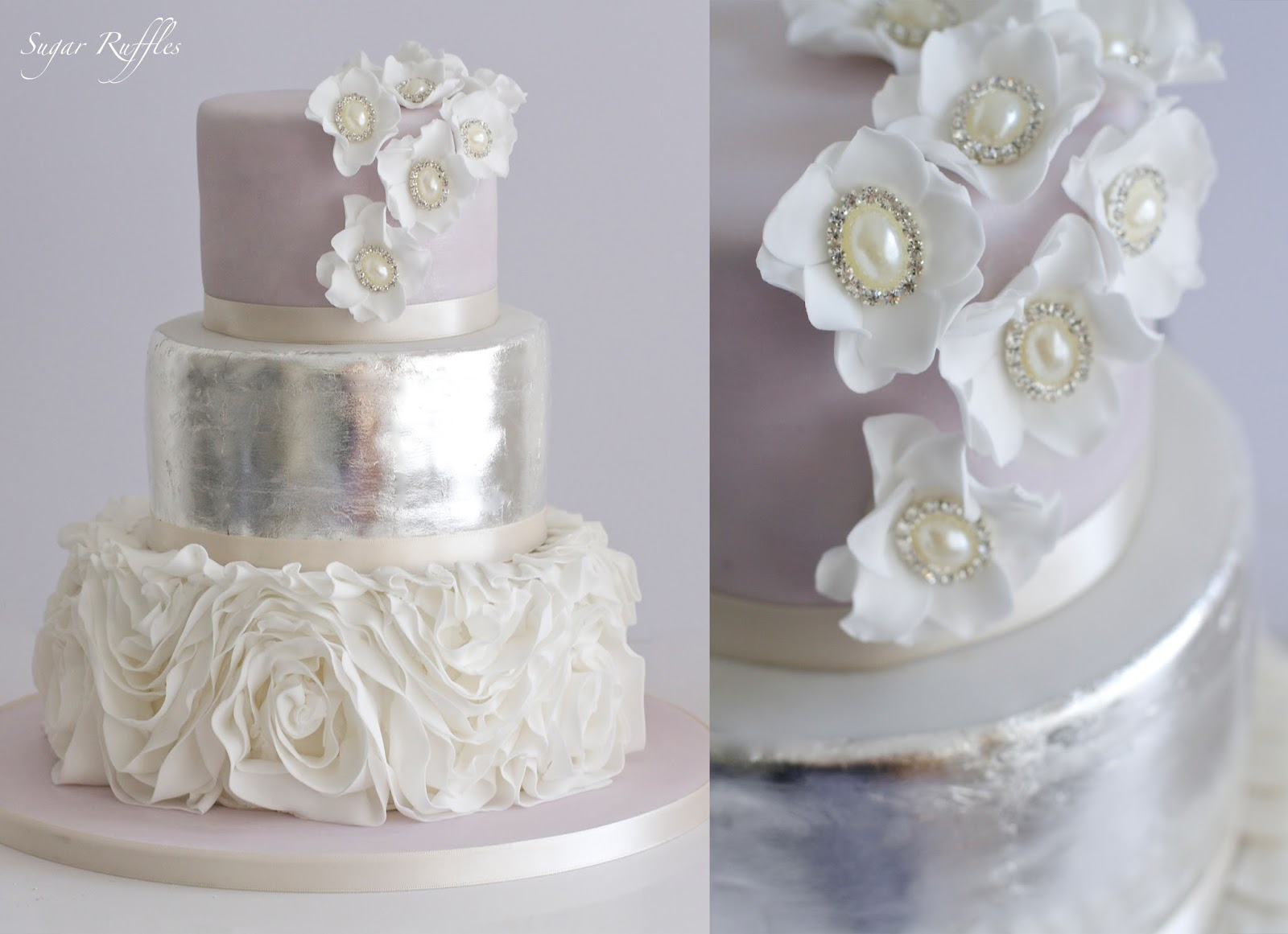 Grey   Silver Wedding Cakes