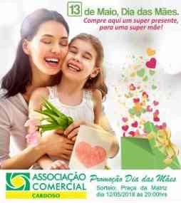 Promoção ACEC Cardoso Dia das Mães 2018 Associação Comercial Empresarial