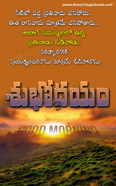best good morning quotes in telugu, trending good morning quotes hd wallpapers, subhodayam images in telugu