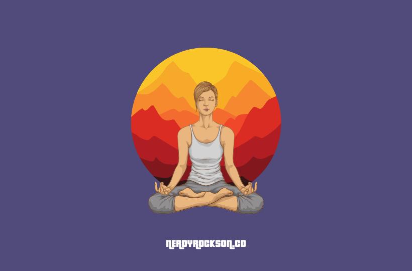 woman practicing yoga pose