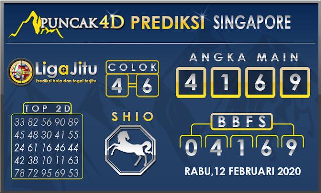 PREDIKSI TOGEL SINGAPORE PUNCAK4D 12 FEBRUARI 2020
