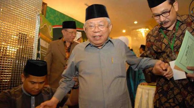 Heran Namanya Muncul di Bursa Cawapres, KH. Ma'ruf Amin Siap Saja Kalau Memang Dipilih Jadi Pendamping Jokowi